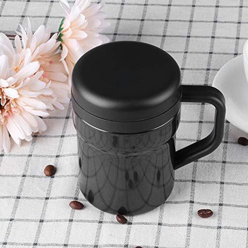 Acero inoxidable automático de la taza de mezcla de la leche de la taza, conveniente para el hogar(black)
