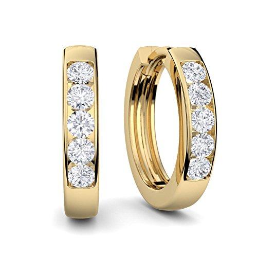 Creolen Gold von AMOONIC mit * Zirkonia* (Silber 925 hochwertig vergoldet) +LUXUSETUI mit Gravur! Kreolen Ohrringe Geschenkidee Geschenke Freundin Valentinstag für Frauen FF01VGGGZIFA-1