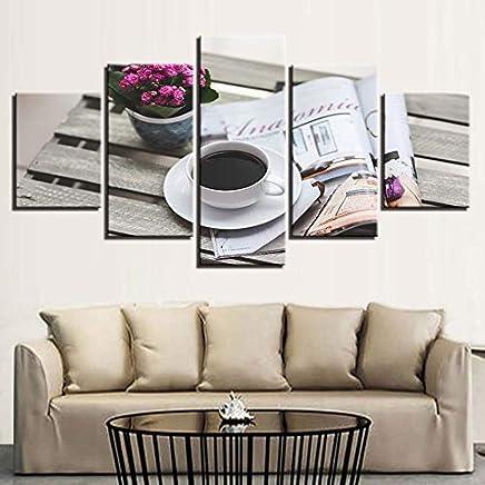 kxdrfz Quadri su Tela Decorazioni per la casa 5 Pezzi Dipinti di caffè per Soggiorno Modulare HD Stampe Tempo Libero Poster Quadro Quadro - Trova i prezzi più bassi