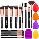 InnoGear Makeup Brushes, Professional 16-Pieces Makeup Brush Set with Sponges and Brush Cleaner for Eyeshadow Foundation Powder Blush