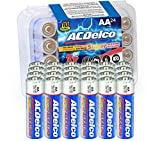 ACDelco 24-Count AA Batteries, Maximum Power Super Alkaline Battery, 10-Year Shelf Life, Recloseable Packaging