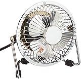 電源:AC100V 50/60Hz  消費電力:12W/10W 風量2段階切替(HIGH/LOW) 本体サイズ:幅146×奥行95×高さ152mm  羽根サイズ:約10cm 本体重量:約620g  電源コード長:約1.9m  安全装置:温度ヒューズ115℃ メーカーの本体保証1年間【ご購入日より】付き カラー:メタリックシルバー