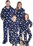 SleepytimePJs Family Matching Fleece Penguin Onesie Hooded Footed Pajama, Penguin, Men's LRG