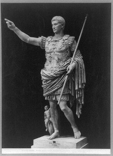 Photo: Statue,Augustus Caesar,Vatican museum,Rome,pointing,hand,Emperors,Rome,c1900