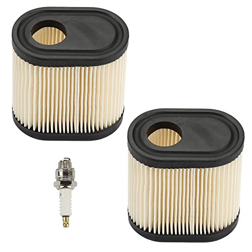 Powtol 36905 for Tecumseh Air Filter RJ19LM Spark Plug Kit for Toro Recycler 20016 20017 20018 Lawn Mower (Pack of 2)