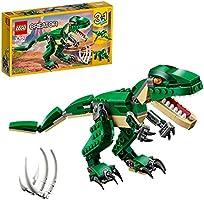 LEGO31058CreatorMachtigespeelgoeddinosaurussen,3-in-1model,Triceratopsenpterodactylusdinosaurusfiguren,Modula...