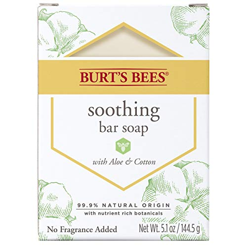 Burt's Bees Bar Soap, Soothing with Aloe & Cotton