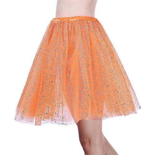 SK Studio Women's Classic Elastic 3 Layered Tulle Tutu Skirt