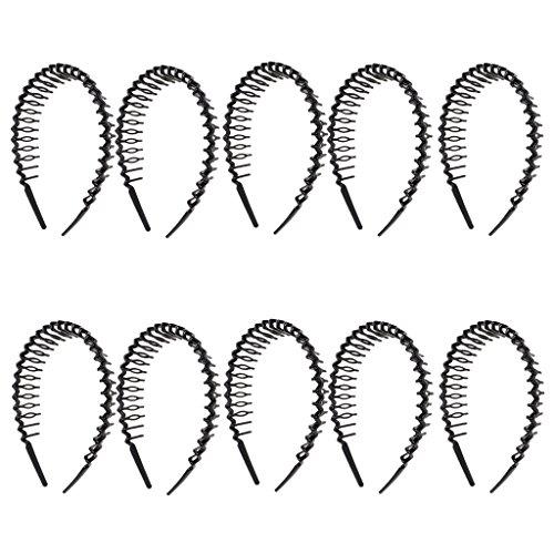 dailymall 10x Modisch Haarkamm Haargreifer Haarband Kopfband Mädchenschmuck Schwarz