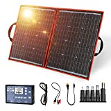 Dokio 100W 18V PORTABLE FOLDABLE Solar Panel Kit (21x28inch, 5.9lb) Monocrystalline(HIGH Efficiency)...