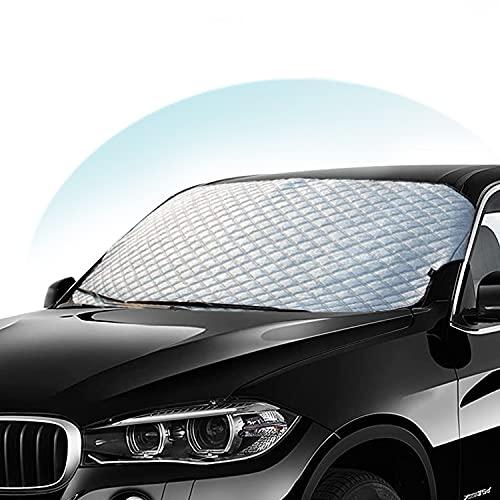 VANGE Auto Windschutzscheiben Abdeckung - Hochleistungs-Ultra-Dick Schutzabdeckung Schnee EIS Frost Staub Wasserbeständig UV,Flexible Größe für SUV LKW Auto groß oder klein
