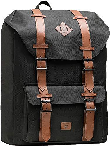 Indicode Heiss Unisex Rucksack 25L m. gepolsterter 15 Zoll Laptoptasche | trendiger Schulrucksack m. 15