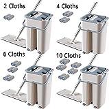 Set Mopp Eimer, Geschirrspüler, Handwaschmaschinen, Mikrofaser, mit Eimer zum Reinigen von Böden und Fenstern Flachmop + Eimer
