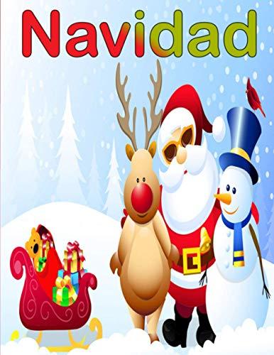 Navidad: Libro para colorear para niños - Increíble regalo de Navidad para los niños y niñas - 100 páginas mágicas para colorear con los renos, Papá Noel, el muñeco de nieve y mucho más!
