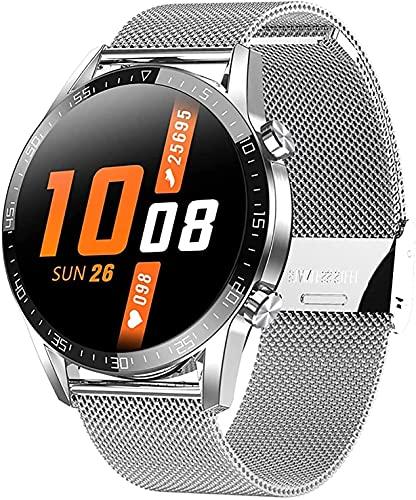 QIXIAOCYB Reloj inteligente para hombre, resistente al agua, con presión arterial, SPO2, monitor de frecuencia cardíaca, monitor de temperatura corporal, podómetro, E.,