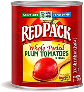 Redpack Whole Peeled Plum Tomatoes in Puree, 28oz Can (Pack of 12)