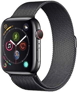 Apple Watch Series 4-40mm Space Black Stainless Steel Case with Black Milanese Loop, GPS + Cellular, watchOS 5 - MTVM2AE/A