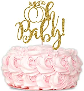 Pumpkin Oh Baby Topper, Oh Baby Cake Topper, Baby Shower Cake Topper, Glitter Baby Shower Cake Topper, Pumpkin Baby Shower