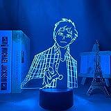 Lámpara de noche 3D Lámpara de ilusión de anime My Hero Academy Luz LED de anime para decoración del hogar Regalo de cumpleaños Lámpara de noche 3D Manga Iida Tenya My Hero Academy