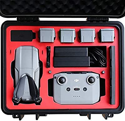 VCUTECH Mavic Air 2 Air 2S Waterproof Hard Carrying Case Compatible with DJI Mavic Air 2 Air 2S Drone/Fly More Combo & Drone Accessories, Top Grade Foam Insert, Anti-Crash with Full Protection