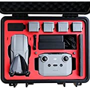VCUTECH Mavic Air 2 Waterproof Hard Carrying Case Compatible with DJI Mavic Air 2 Drone/Fly More Combo & Drone Accessories, Top Grade Foam Insert, Anti-Crash with Full Protection (Black)