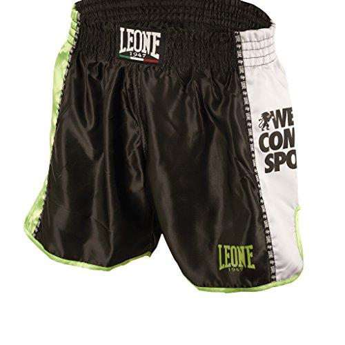 LEONE 1947 (LEORC) Training Pantaloncino Kick-thai, Unisex – Adulto, Nero, M