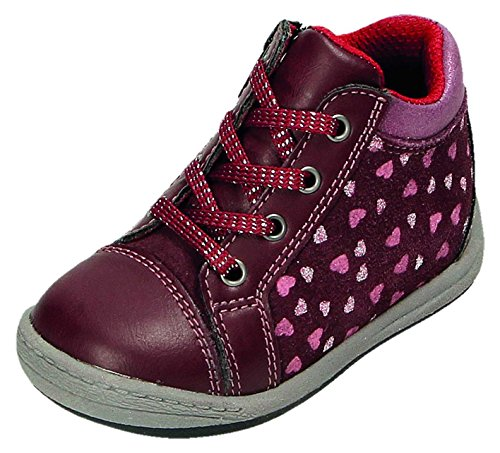 Greenies 125488, Chaussures Premiers Pas pour bébé (Fille) Rouge Wine/Cassis - Rouge - Bordeaux,