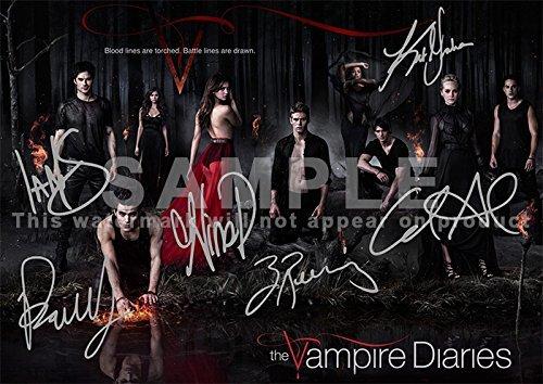 The Vampire Diaries TV Show Print - Cast Ian Somerhalder, Paul Wesley, Nina Dobrev, Kat Graham, Candice Accola, Zach Roerig (11.7' X 8.3')