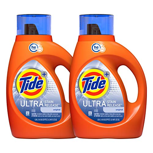 Tide Plus Ultra Stain Release HE Turbo Clean Liquid Laundry Detergent, 46 oz, 24 Loads (Pack of 2) (Packaging May Vary)