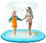 Hyvigor Aspersor de Almohadilla de Salpicadura 68inch para Niños Pequeños de 3 Años+, Splash Pad Inflable Acuático con Rociador Altura Ajustable para Juegos Mentales y Fiestas de Verano al Aire Libre
