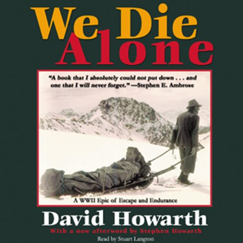 We Die Alone audiobook cover art