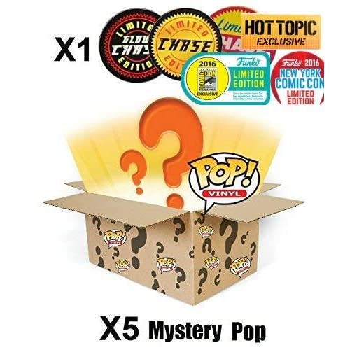 b38a6f1c76d1 POP Funko Mystery 6 Pack w  1 Random Limited Edition Chase - Stylized Vinyl  Figure