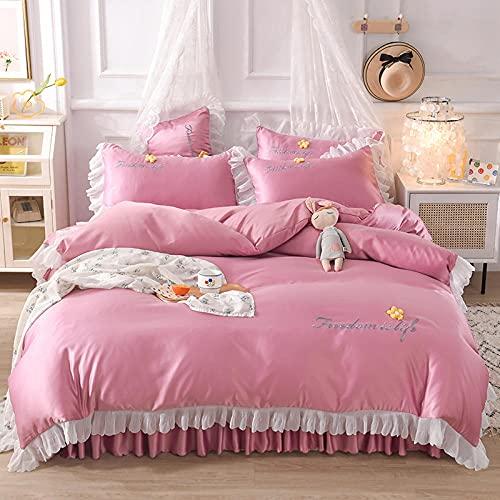 juegos de sábanas de 90 de oferta-Princesa feng shui lavado de seda cama linda camara cama soporte para estudiantes dormitorio dormitorio suite, rey doble arena cama doble cama individual almohada co