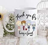 Taza de café con diseño de chicas doradas para niñas doradas, regalo de chicas doradas, de Blanche Sophia Rose Dorothy con...