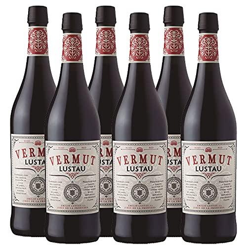 Vermut Rojo Lustau de 75 cl - Elaborado en Jerez - Bodegas Grupo Caballero (Pack de 6 botellas)
