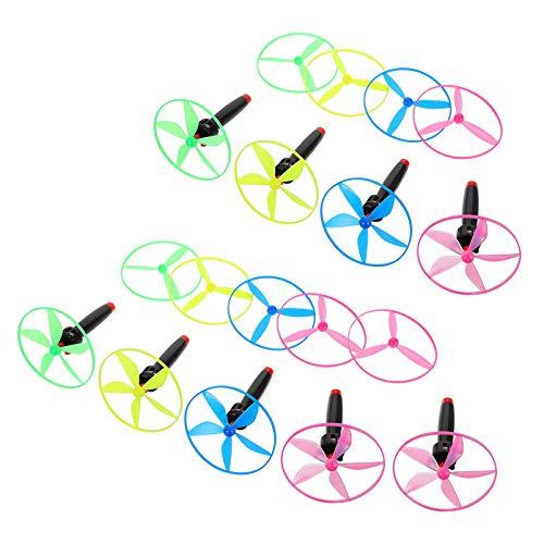 Tomaibaby 9 Sets Fliegende Libelle Spielzeug Fliegende Untertasse Spinning Fliegen Disc UFO Untertasse Lustige Outdoor Spielzeug für Kinder Kinder Park Außerhalb Spielen (Gelegentliche