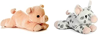 """Aurora Bundle of 2 8"""" Floppy Beanbag Percy Pig and Spotted Piglet Stuffed Animals"""