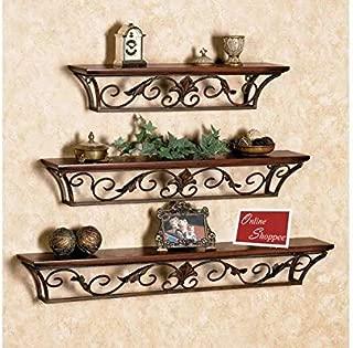 Onlineshoppee Hermosa Floating Wall Shelves Set of 3