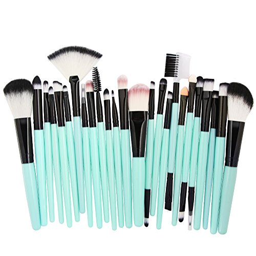 Chakil 25pcs maquillage pinceau lèvre correcteur pinceau maquillage cosmétique pinceau maquillage professionnel pinceau pour les yeux brosse outil beauté outil fard à paupières poignée en plastique