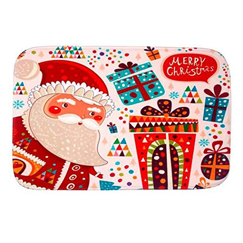 JUSTDOLIFE Kerstmis deurmat antislip doucheband badmat voor thuis Eén maat Multicolor2
