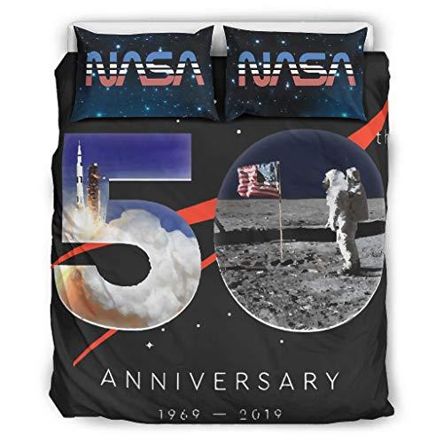 NC83 beddengoedsets Hypoallergeen 3-delig dekbedovertrek - NASA Soft Comfort Boho beddengoedset