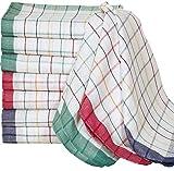 FABFIRE Strofinacci (50 x 70 cm), confezione da 6 pezzi – asciugamani da cucina in cotone, qualità professionale, multicolore