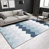 NF Alfombra rectangular con estampado geométrico 3D nórdico, alfombra grande, alfombra para salón, pasillo, dormitorio, mesita de noche, antideslizante, 80 x 160 cm