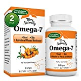 Terry Naturally Omega-7-60 Softgels - Pack of 2-500 mg Sea Buckthorn - Heart & Skin Support Supplement - Enhanced with Omega-3, -6, and -9 - Non-GMO, Gluten Free, Vegan - 120 Total Servings