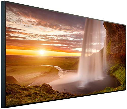 Ecowelle Infrarotheizung mit Bild | 750 Watt | 60x120 cm | Infrarot Heizung| | Made in Germany| d 40 Wasserfall