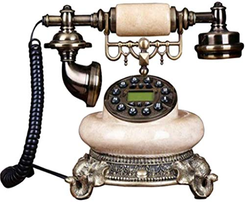 AWAING Telefonos Antiguos Vintage Teléfono Decorativo Antiguo, teléfono Fijo, Moda para el hogar, Oficina Creativa, teléfono de Resina Retro Antiguo Europeo Fijo
