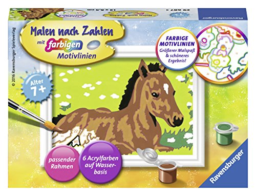 Ravensburger Malen nach Zahlen 29687 - Kleines Fohlen