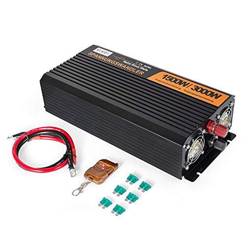 ZGYQGOO 3500/7000 W CC 12 V a AC 230 V Convertidor de potencia de onsinusoidal puro con pantalla de control remoto LED (GYS-3500 W con LED)