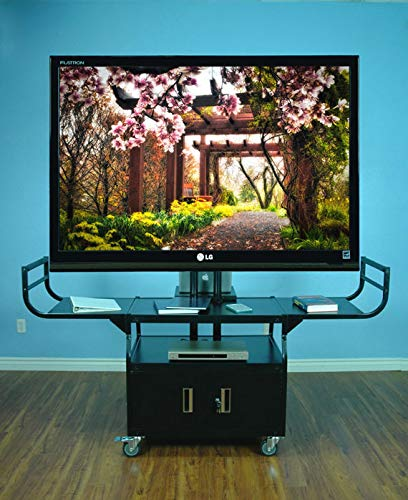 VTI Manufacturing 10400 80 in. Large Flat Panel LCD TV Cabinet Cart Monitor
