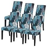 Adisputent 6 Stücke Stuhlhussen Stretch Universal Stuhlbezug Stuhlhussen Schwingstühle Abnehmbarer Moderne Beschützer Schutzhülle für Husse Bankett Party Hotel